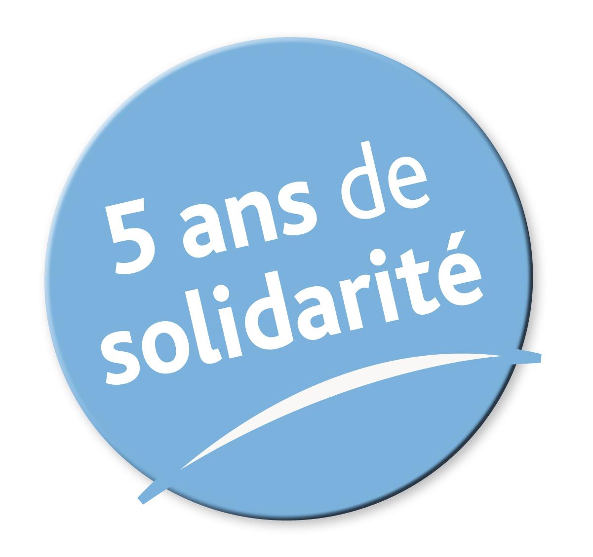 5 ans de solidarité