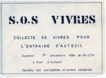 Collecte alimentaire 1984_Archives