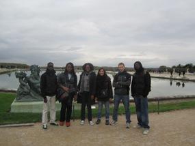 sortie des jeunes à Versailles